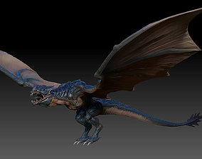 Fantasy Dragon Zbrush 3d model monster