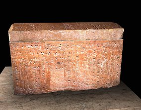 Egyptic Sarcophagus historic 3D model