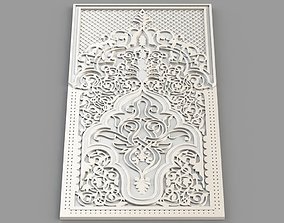 Carved Panel - Islamic structure 3D print model