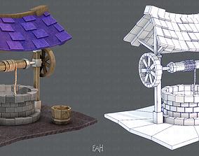 Medieval Well cartoon 3D model