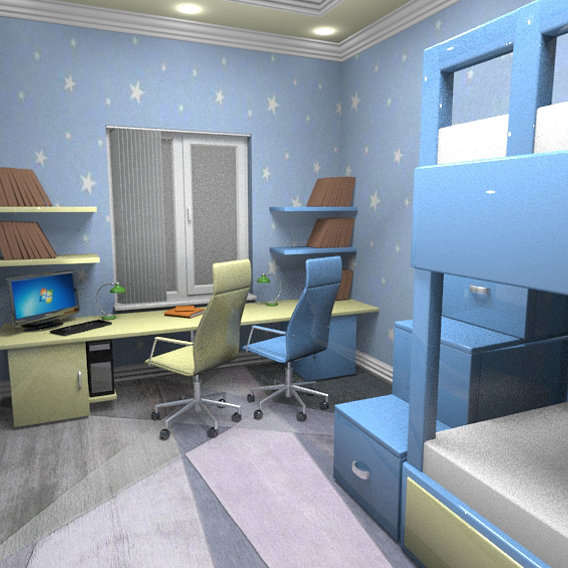 Interior design, kid's  room