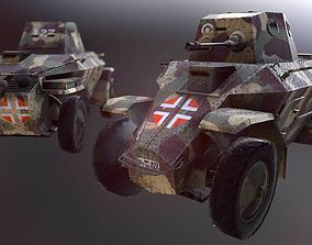 39M Csaba Light Armoured Car 3D asset game-ready