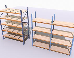 3D asset Industrial shelves 3