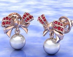 3D printable model Bow earrings