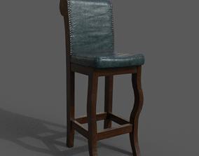 3D asset Pub chair
