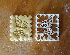 Butterfly cookie cutter v2 3D print model