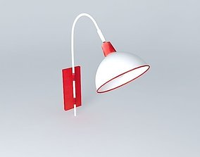 furniture Red lamp 3D