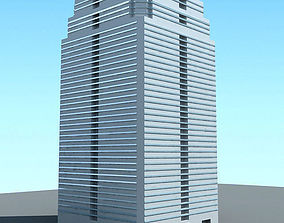 Detailed White Building 3D