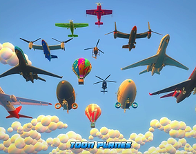 3D model Toon Planes