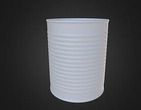 Tin Can - No Textures 3D