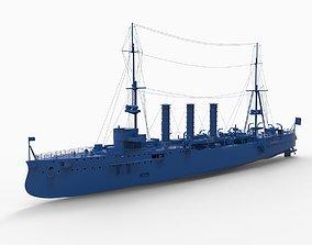 Battleship mod1 3D print model