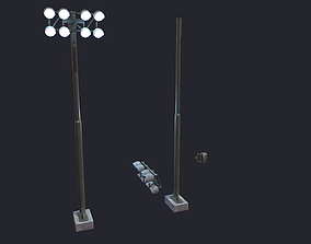 3D model Floodlight Tower