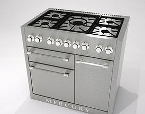 3D asset range cooker 100cm wide