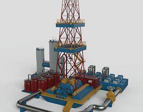 3D model Gas Platform