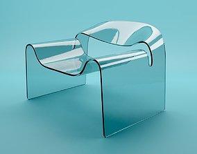 3D model Ghost Chair - Cini Boeri - 1987