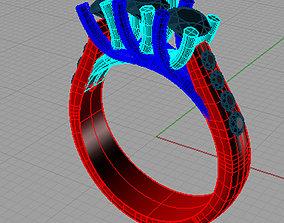 Diamond Trilogy Engagement Anello trilogy 3D print model 1