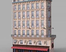 3D model Parisian corner facade