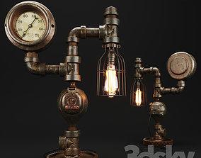3D model Steampunk Steam Gauge Lamp