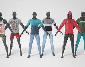 3D model Man mannequin with clothes A-pose