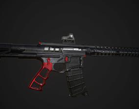 3D model AR 15 Skeletonized