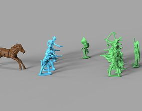 3D Cowboys and Native Americans Miniature Pack