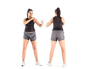 3D asset Female boxing 34