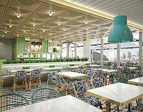 dine 3D model Restaurant