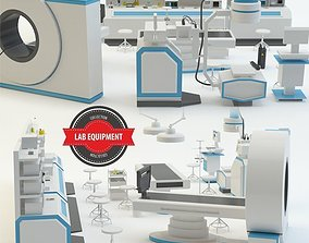3D model Lab equipment set 3