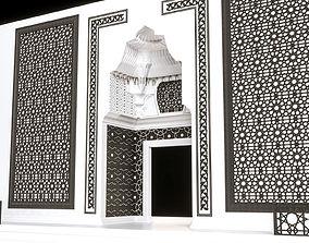architectural 3D model stone gate