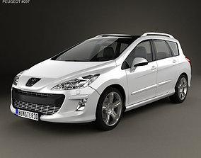3D model Peugeot 308 SW 2008