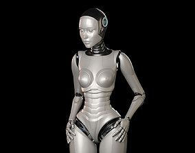 3D model SCI - FI ROBOT WOMAN RIGGED BASIC EDITION