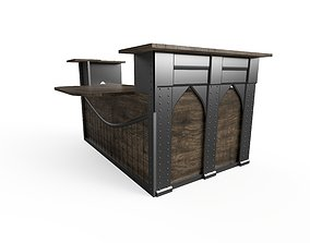 3D model Reception counter