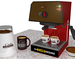 3D model Cafe Desire - Coffee Machine