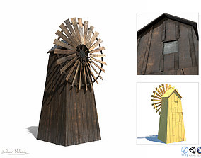 Windmill - Slav Architecture 3D model