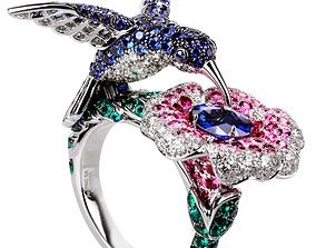 3D print model The hummingbird ring