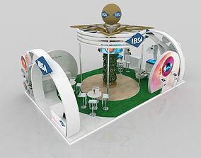 10x6 meter exhibition stand design 3D model
