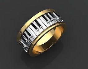 3D print model piano ring