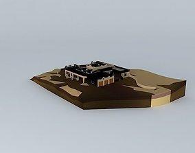 Adobe Santa fe (Montezuma House) 3D