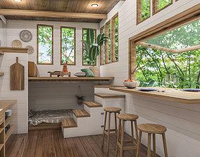 Tiny House 3D model interior