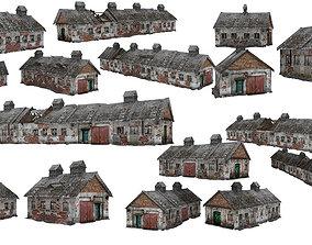 VR / AR ready 6Models Old house Kolkhoz 01-02