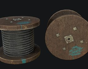 Cable Drum Game-ready PBR 3D asset