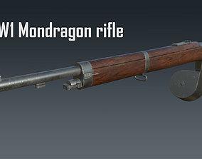 3D model Mondragon WW1 rifle game-ready PBR