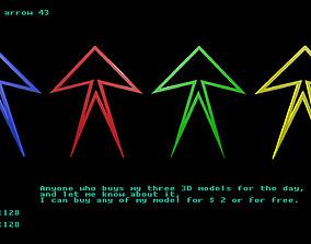 3D asset Low poly arrow 43