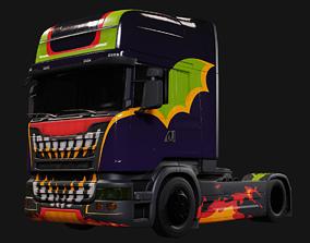 Halloween Truck 3D model rigged