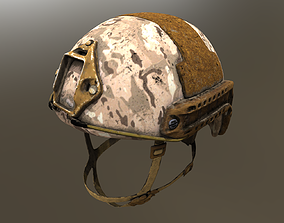 Three Ops-Core FAST Ballistic Helmets 3D model