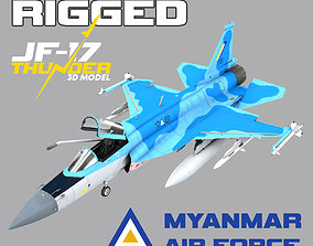 3D asset JF-17 Thunder Myanmar Realistic Rigged Model