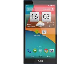 3D model HTC DESIRE 626 LTE BLUE LAGOON