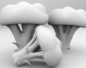 kitchen Broccoli 3D model