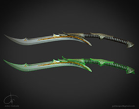 Fantasy sword Cult of Athena 3D model