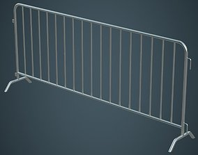 3D model Crowd Barrier 1A